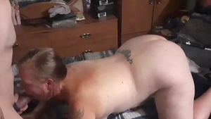 Cumshot with chubby amateur