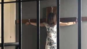 Bondage in company with chinese female