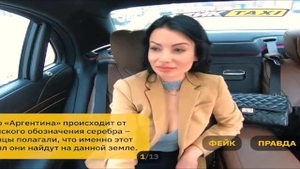 'Rusian Taxi Driver Play Pervert Game With lovely hooker Wife'