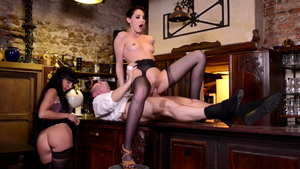 Raw plowing hard with Kimber Delice and Valentina Ricci
