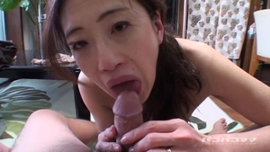 Hairy asian MILF toys action