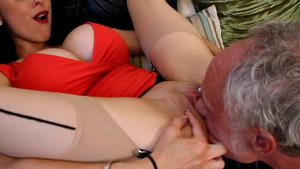 Louise Jenson and Ben Dover cumshot