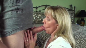 Blowjob in company with deutsch blonde