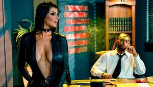 Perfect body Romi Rain cosplay roleplay on sofa