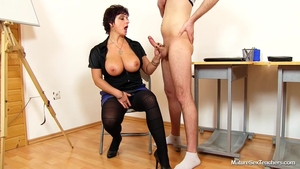 Fetish deepthroat together with young babe