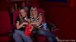 Young Blue Angel pussy fuck in the cinema
