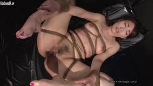 Hairy asian brunette sex with toys