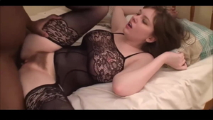 Homemade sex scene in company with big ass american cougar