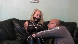 Horny latina brunette has a passion for fetish captured