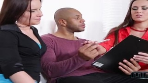 Wendy Moon in company with Mea Melone threesome in HD