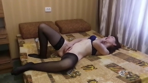 Lonely wife enjoys greatly sex scene