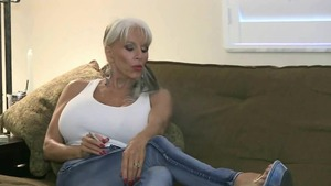 Solo dirty & super sexy MILF finds dick to fuck