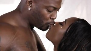 Sex together with ebony Chanell Heart escorted by Nat Turnher