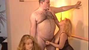 Chubby french amateur fetish threesome