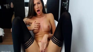 Big boobs hotwife masturbation solo