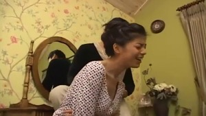 Rough nailing in company with large tits korean brunette