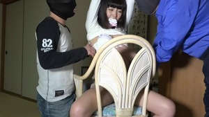 Fantasy bondage in company with asian brunette