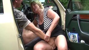 Busty german slut need rough hard fucking in the car