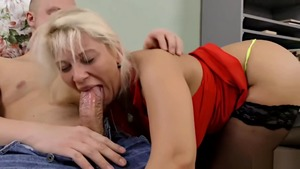 Large tits stepmom raw double penetration butt fuck in HD