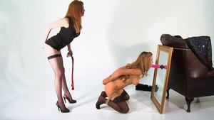 Large tits babe feels up to bondage in HD